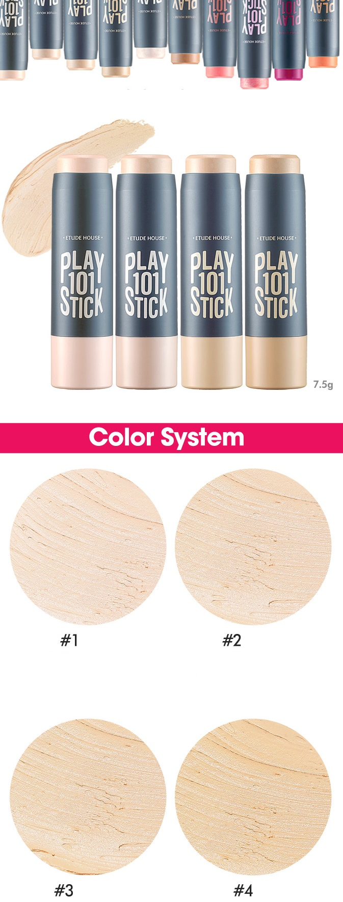 ETUDE HOUSE Play 101 Stick Foundation (4 Colors)