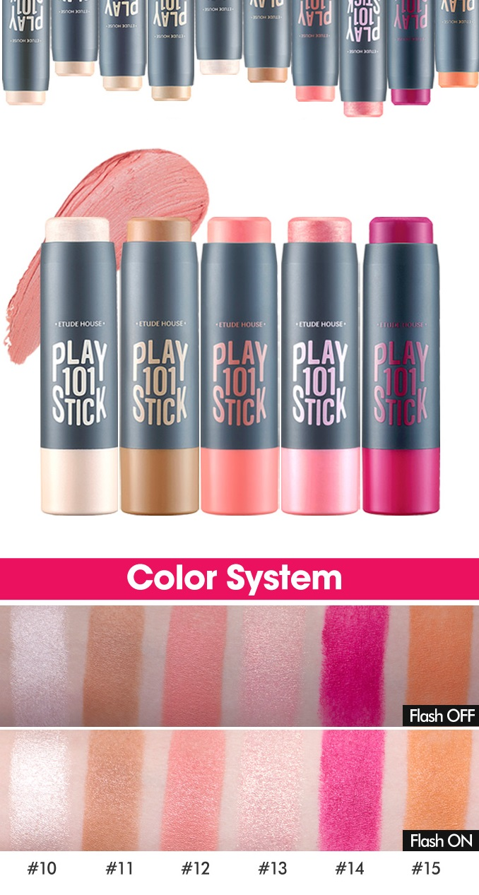 ETUDE HOUSE Play 101 Stick Multi Color (5 Colors