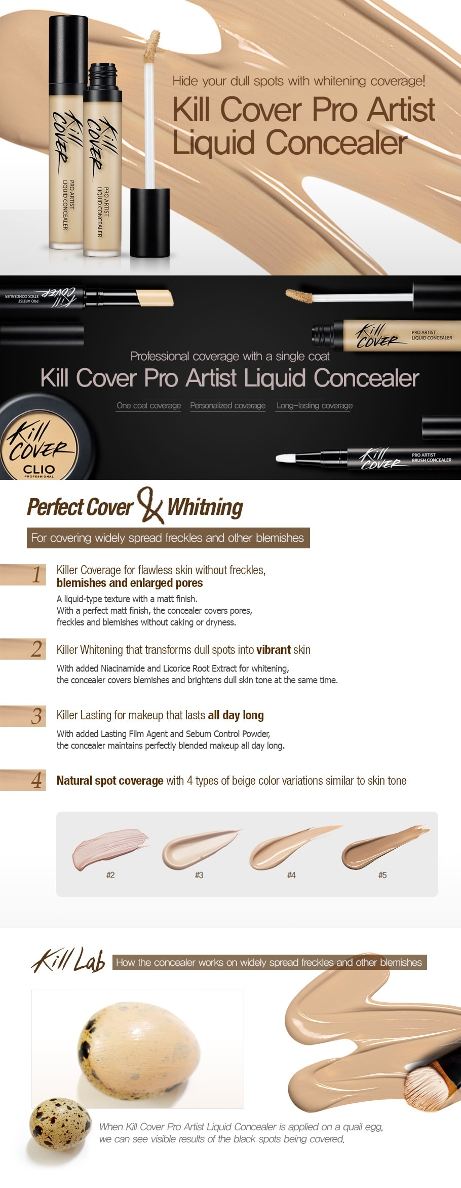 CLIO Kill Cover Pro Artist Liquid Concealer Special Set