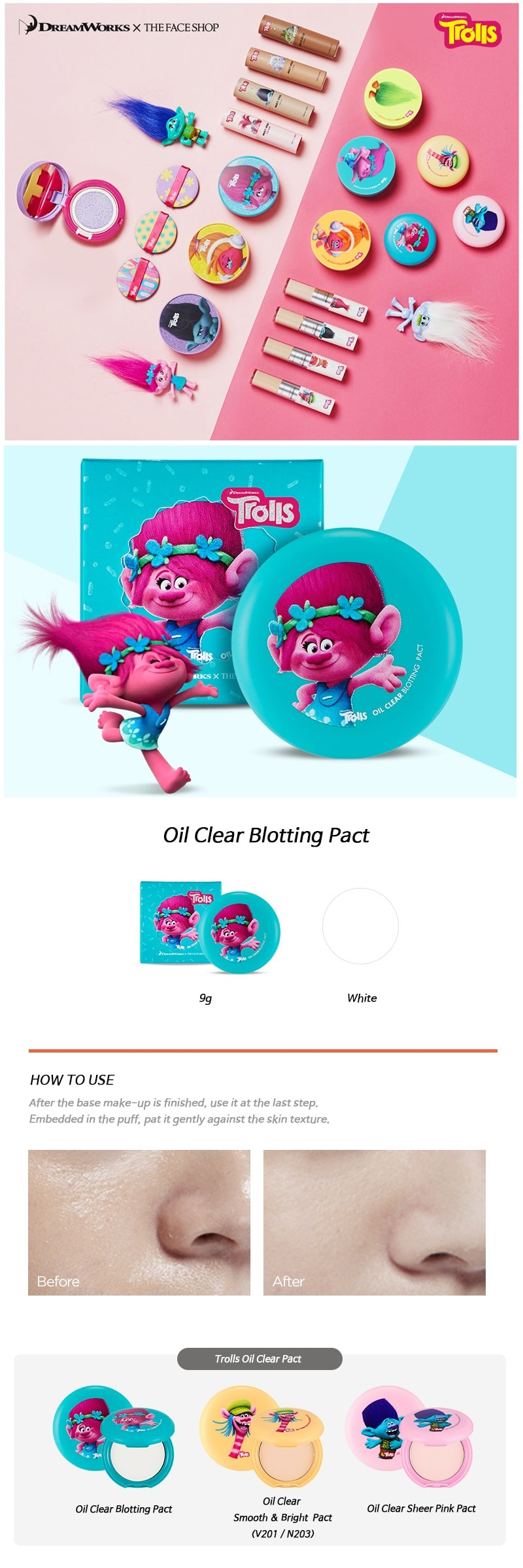 The Face Shop Oil Clear Blotting Pact [Troll Edition]