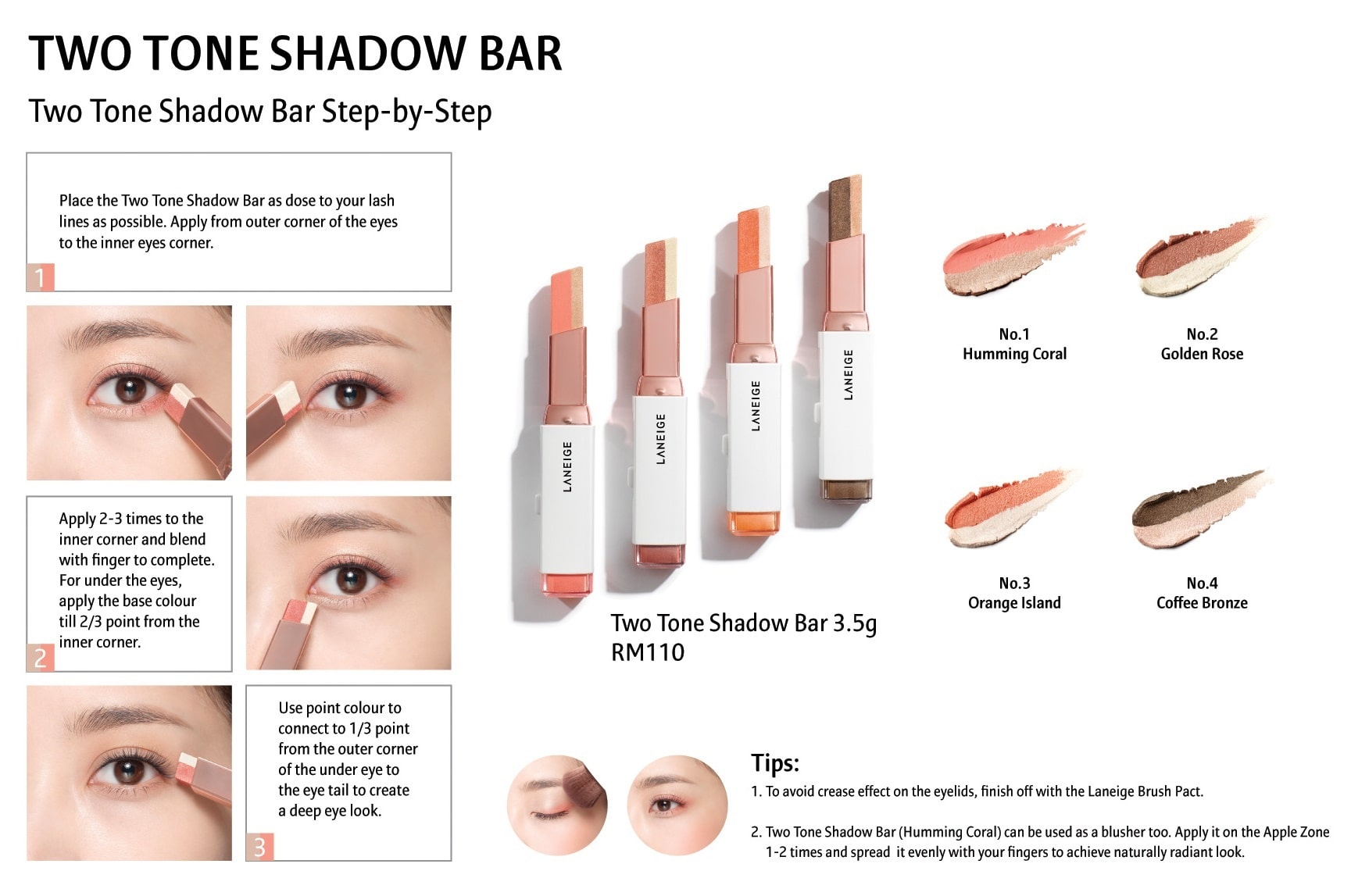 LANEIGE Two Tone Shadow Bar [04 Coffee Bronze]