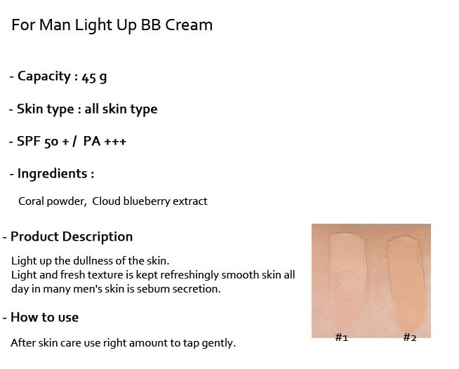 MISSHA For Men Light Up BB Cream SPF50+ PA+++ [Normal Skin]