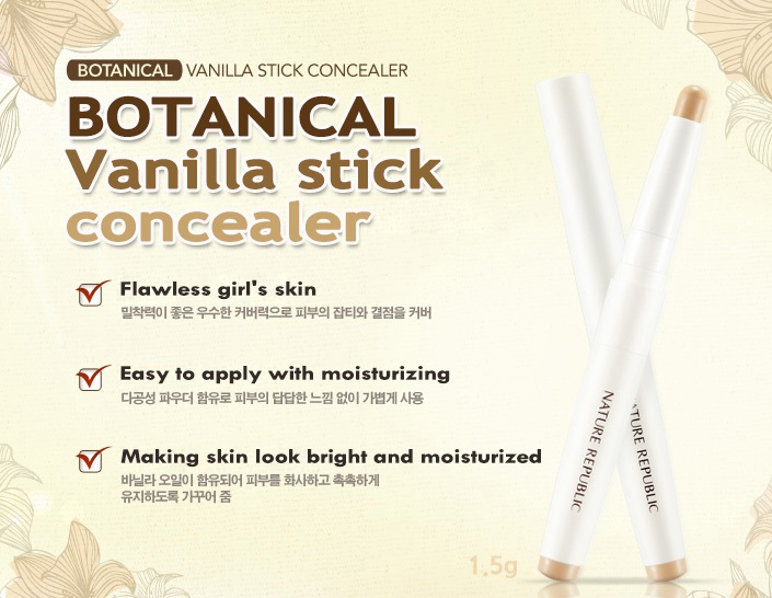 NATURE REPUBLIC] Botanical Stick Concealer - No.02 Natural