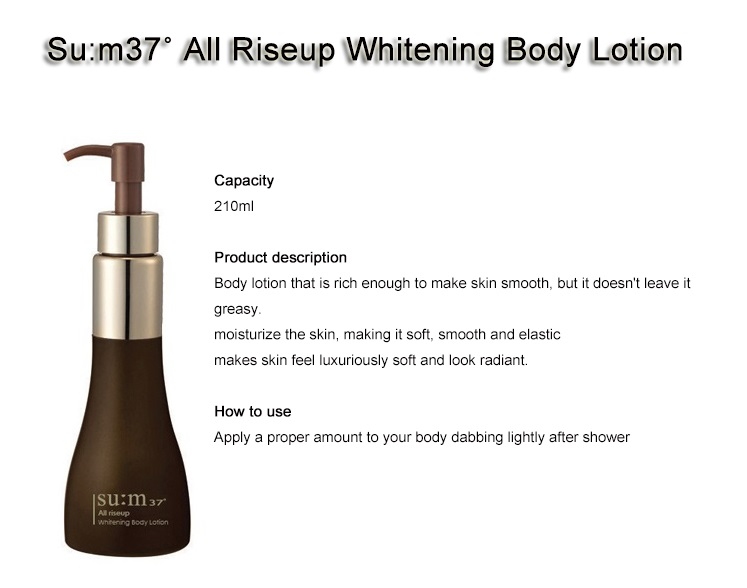 SU:M37°  All Rise Up Whitening Body Lotion 210ml