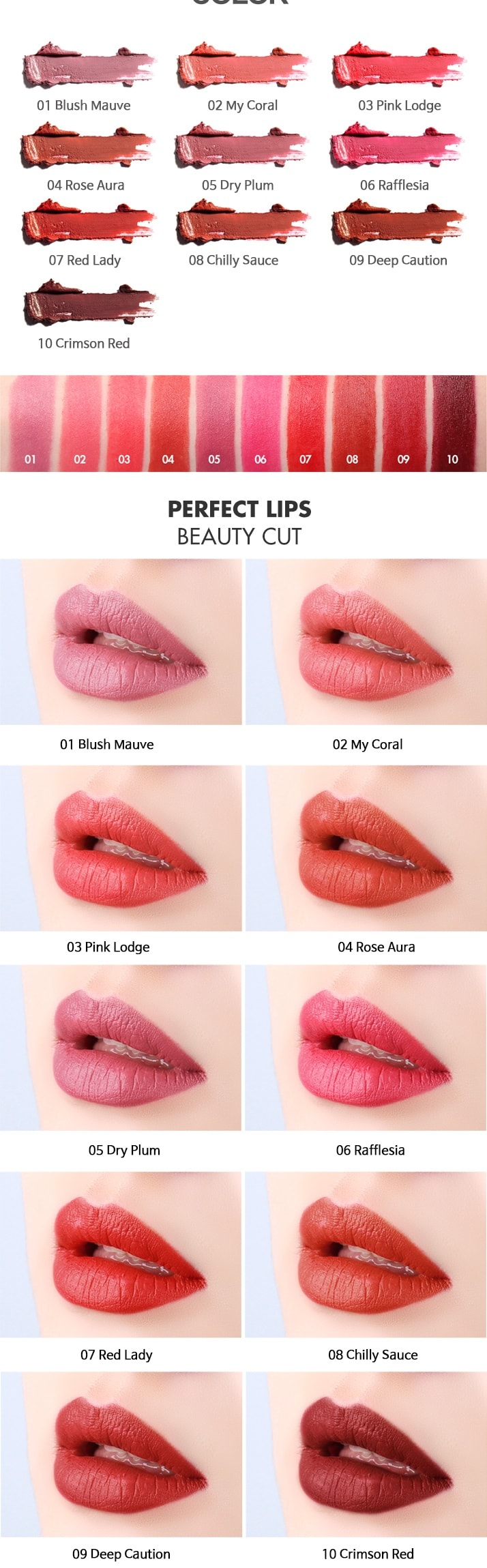 Tony Moly Perfect Lips Curving Lipstick