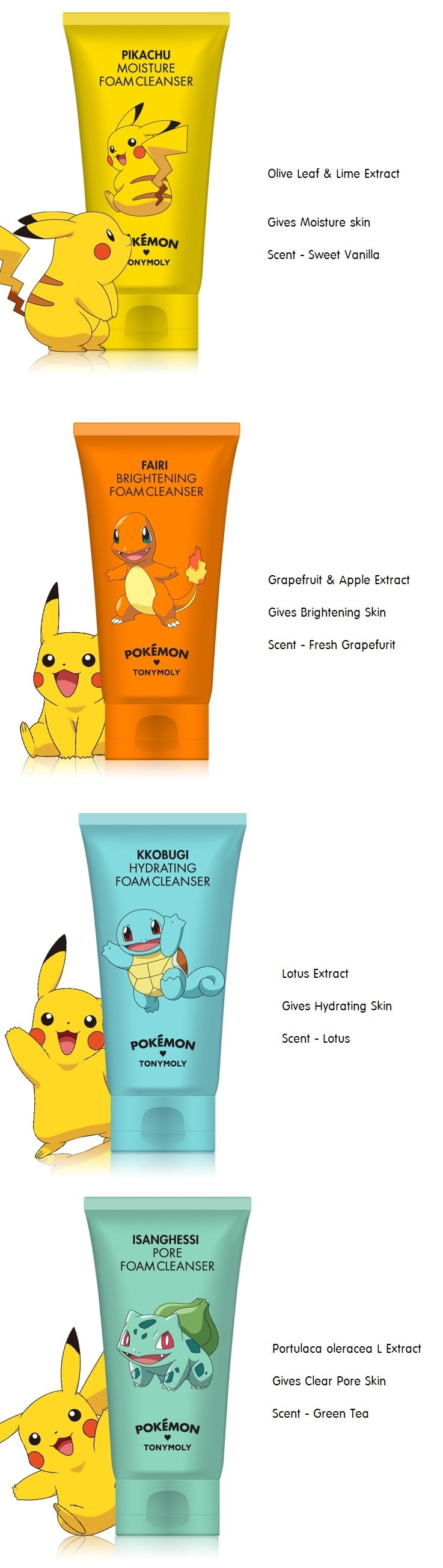 Tony Moly Pokemon Foam Cleanser 150ml
