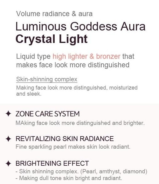 Tony Moly Luminous Goddess Aura Crystal Light 10ml