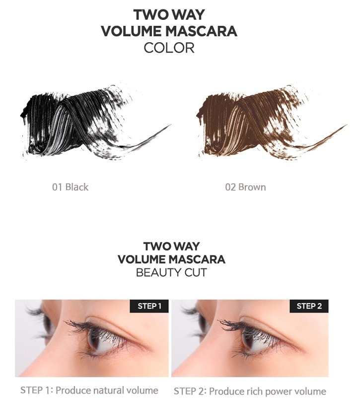 Tony Moly Perfect Eyes Two Way Volume Mascara