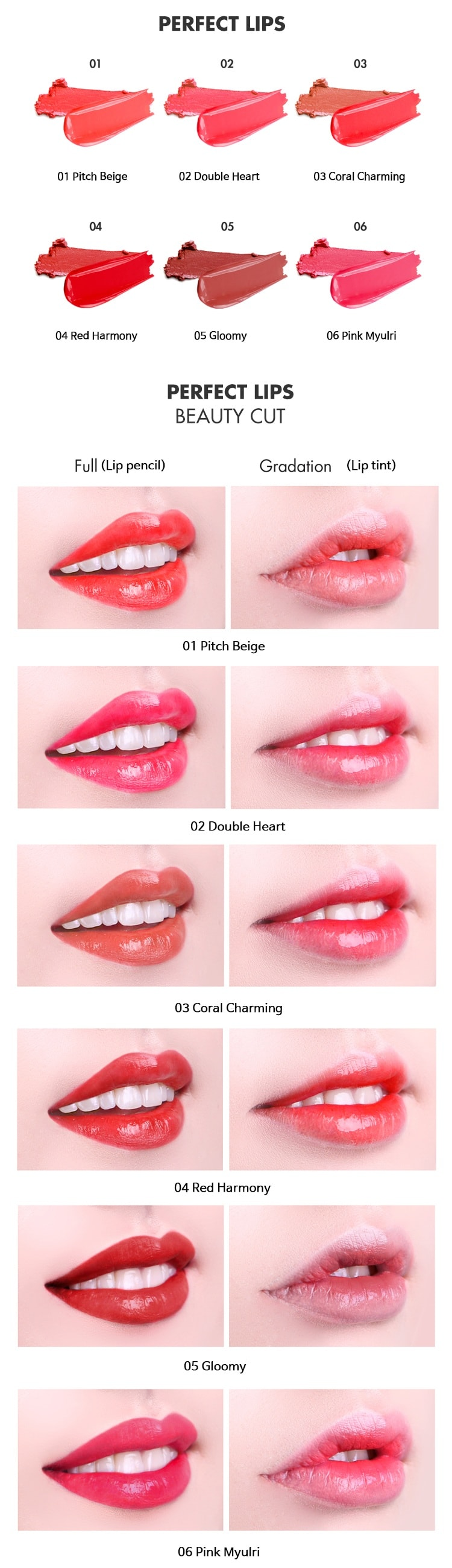 Tony Moly Perfect Lips Double Color Tint [4 Red Harmony]