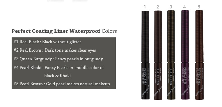 Tony Moly Perfect Eyes Coating Liner Waterproof (5 Colors)