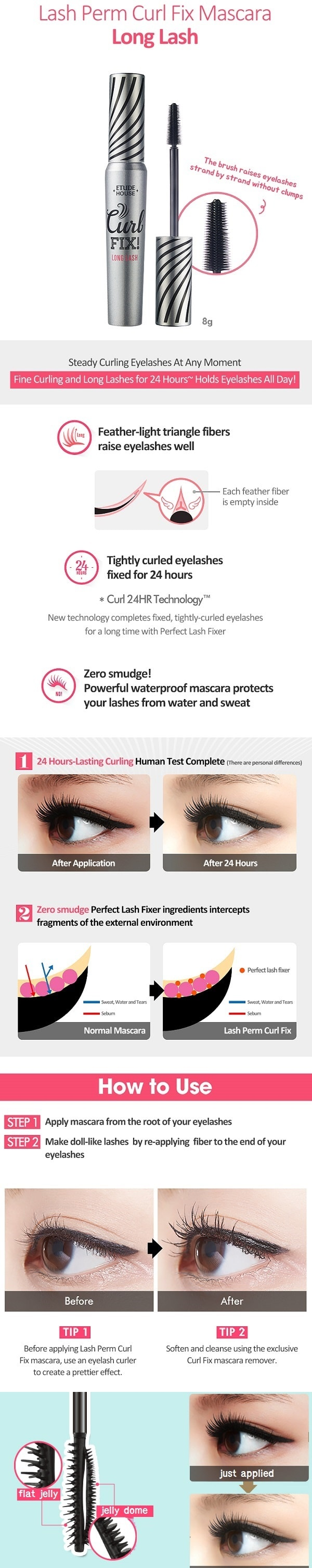 ETUDE HOUSE Lash Perm Curl Fix Mascara - Long Lash