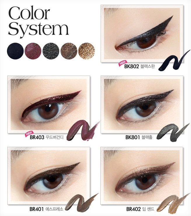 Etude House Proof 10 Gel Liquid Liner (1.5g) 5 Colors