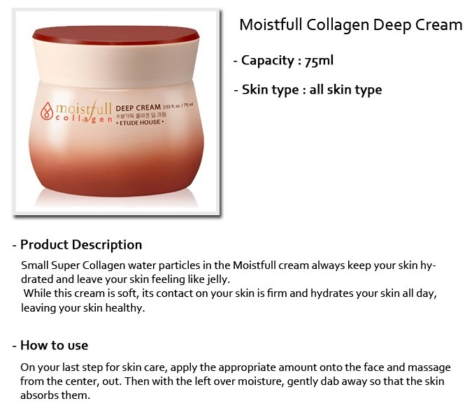 Etude House Moistfull Collagen Deep Cream (75ml)