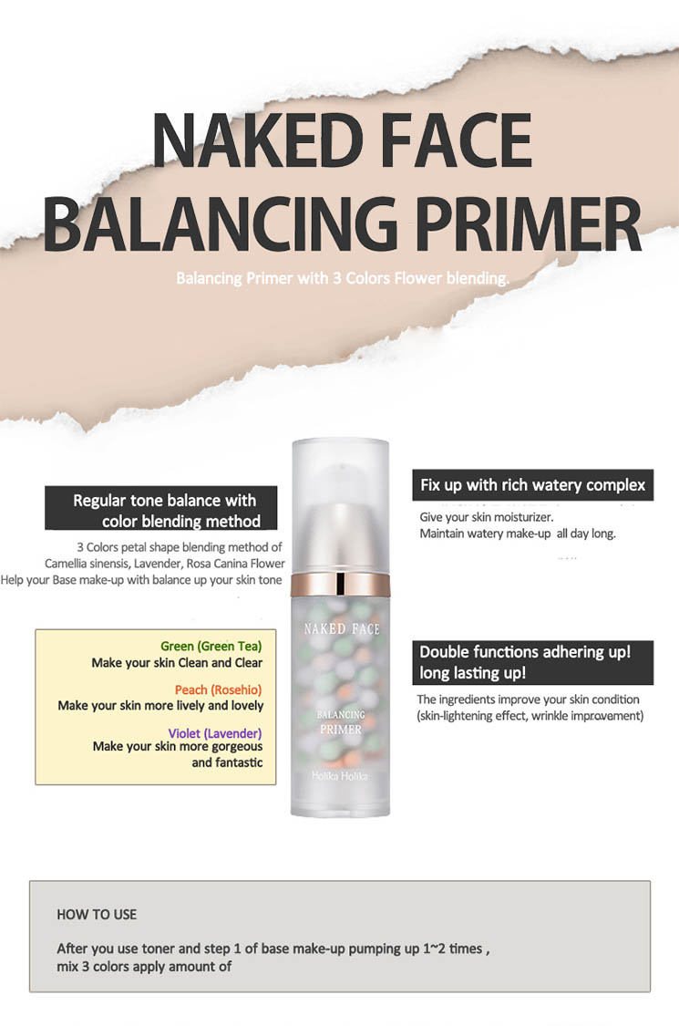 Holika Holika Naked Face Balancing Primer [Anti Wrinkle + Whitening] 35g