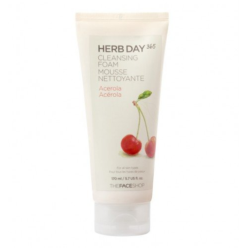 The Face Shop Herb Day 365 Cleansing Foam Acerola (170ml)