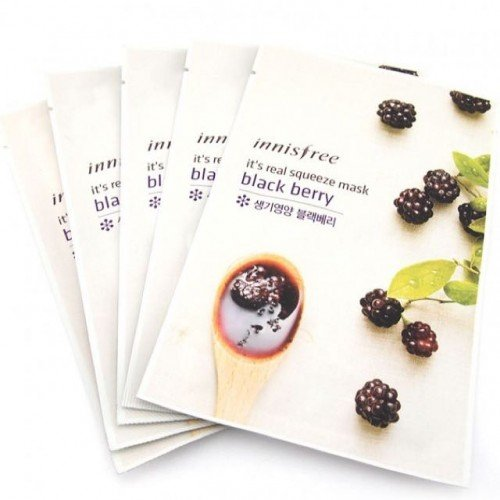 Innisfree It's Real Squeeze Mask Black Berry (1EA)