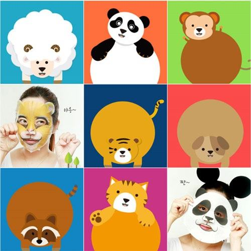 Berrisom Animal Mask 10pcs - (7 Types)