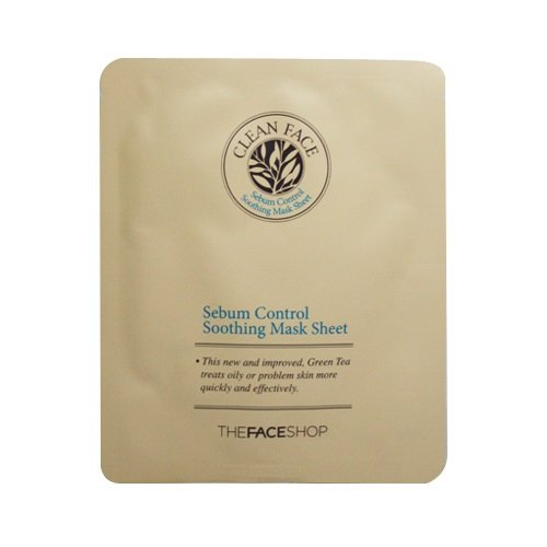 The Face Shop Clean Face Sebum Control Soothing Mask Sheet - 1ea