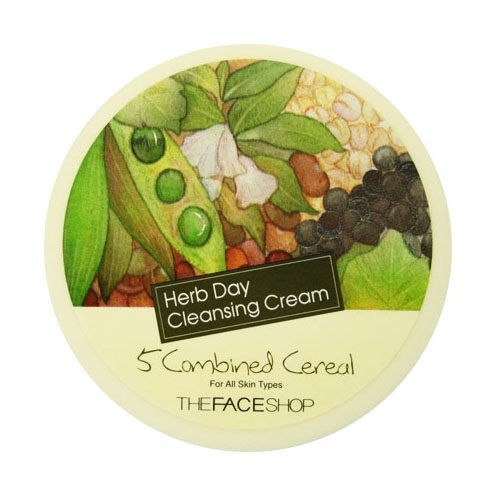 The Face Shop Herb Day Cleansing Cream - 5 Combined Cereal 150ml