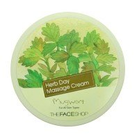 The Face Shop Herb Day Massage Cream - Mugwort 150ml