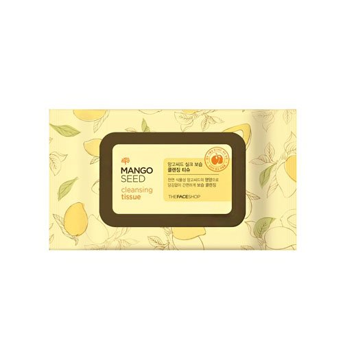 The Face Shop Mango Seed Cleansing Tissue - 50 wipes