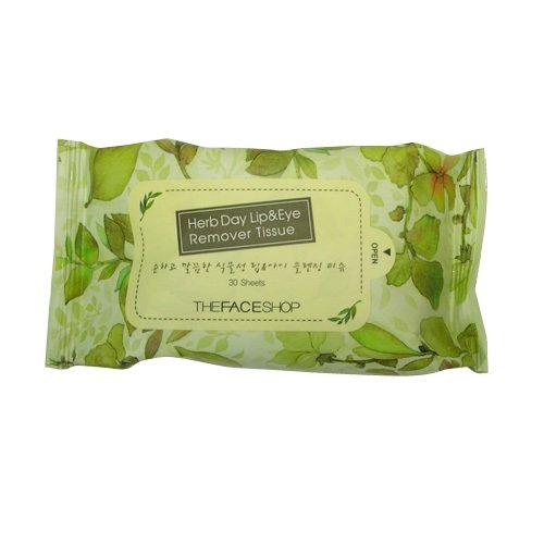 The Face Shop Herb Day Lip & Eye Remover Tissue (30 Sheets)