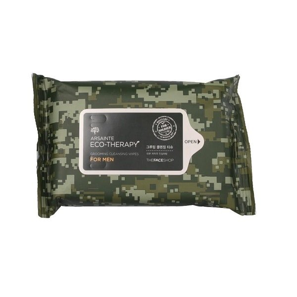 The Face Shop Arsainte Eco Therapy For Men Grooming Cleansing Tissue 20 Sheets