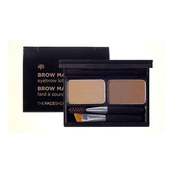 The Face Shop Brow Master Eyebrow Kit 01 Beige Brown