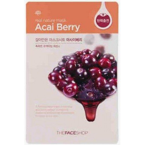 The Face Shop Real Nature Mask Sheet Acai Berry (1 Sheet)