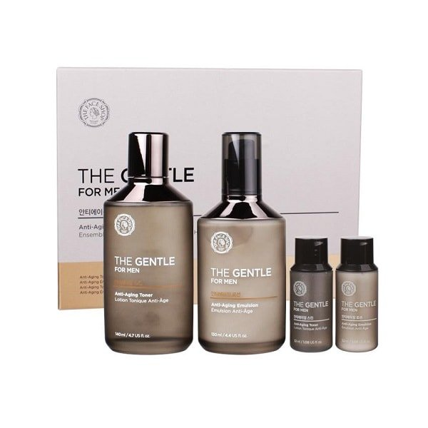 The Face Shop The Gentle For Men Anti-aging Skincare Set ...