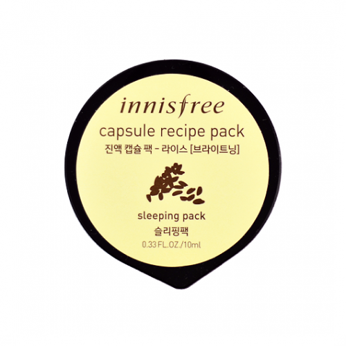 Innisfree Capsule Recipe Pack - Rice Sleeping Pack