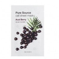MISSHA Pure Source Cell Mask Sheet Acai Berry - 5Sheets