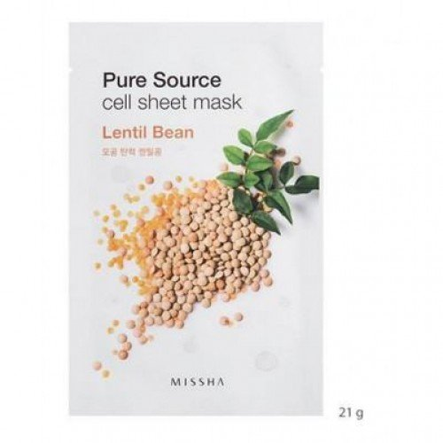MISSHA Pure Source Cell Mask Sheet Lentil Beans - 5Sheets