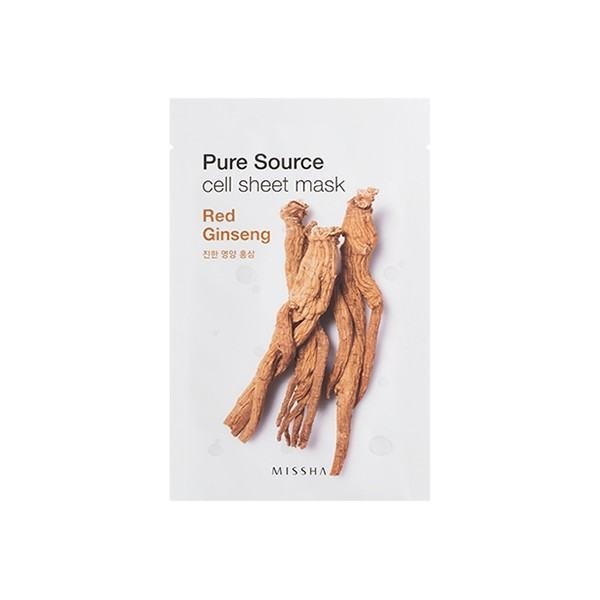 MISSHA Pure Source Cell Mask Sheet Red Ginseng - 5Sheets