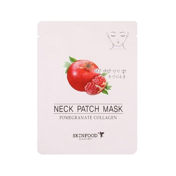 SKINFOOD Pomegranate Collagen Neck Patch Mask