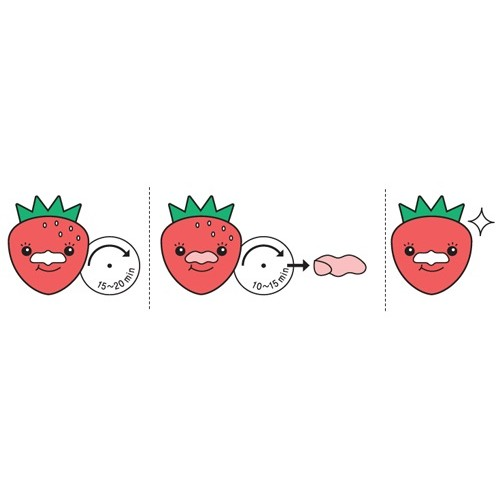 Tony Moly Strawberry Seed 3-Step Nose Pack (1ea)