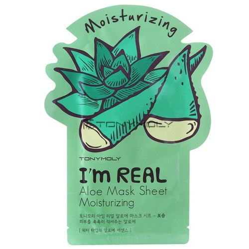 Tony Moly I'm Real Aloe Mask (5 Sheets) [21ml*5]