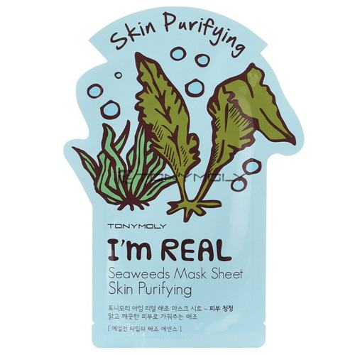 Tony Moly I'm Real Seaweeds Mask Sheet (10 Sheets) [21ml*10]