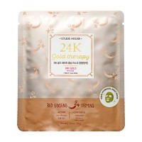Etude House 24K Gold Therapy Red Ginseng Mask [Firming] 1 Sheet