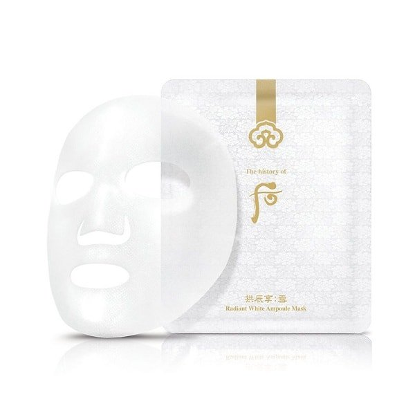 The History of Whoo Radiant White Ampoule Mask - 8 Sheets