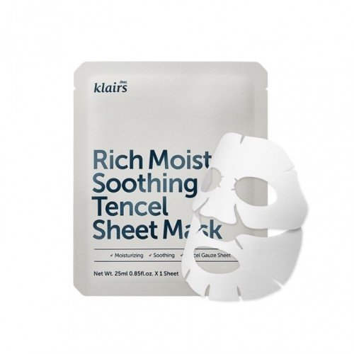 DEAR KLAIRS Rich Moist Soothing Tencel Sheet Mask 10pcs 250ml