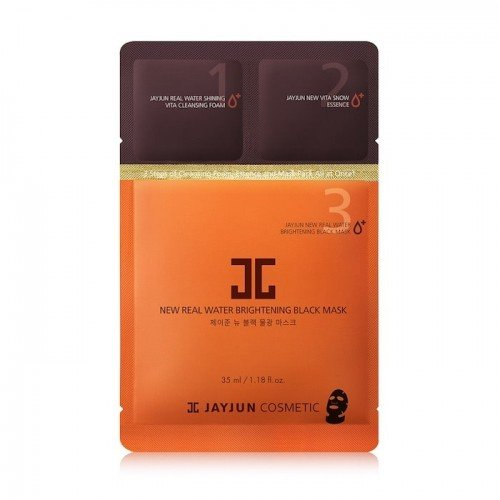 JAYJUN NEW Real Water Brightening Black Mask 1pc