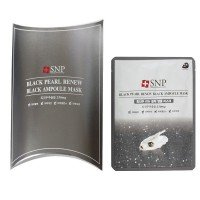 SNP Black Pearl Renew Black Ampoule Mask [10 PCs]