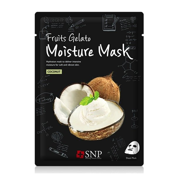 SNP Fruits Gelato Moisture Mask Coconut [10 PCs]