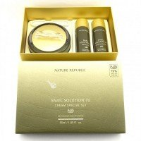 NATURE REPUBLIC Snail Solution 70 Cream Special Set (Skin Booster + Emulsion + Cream)