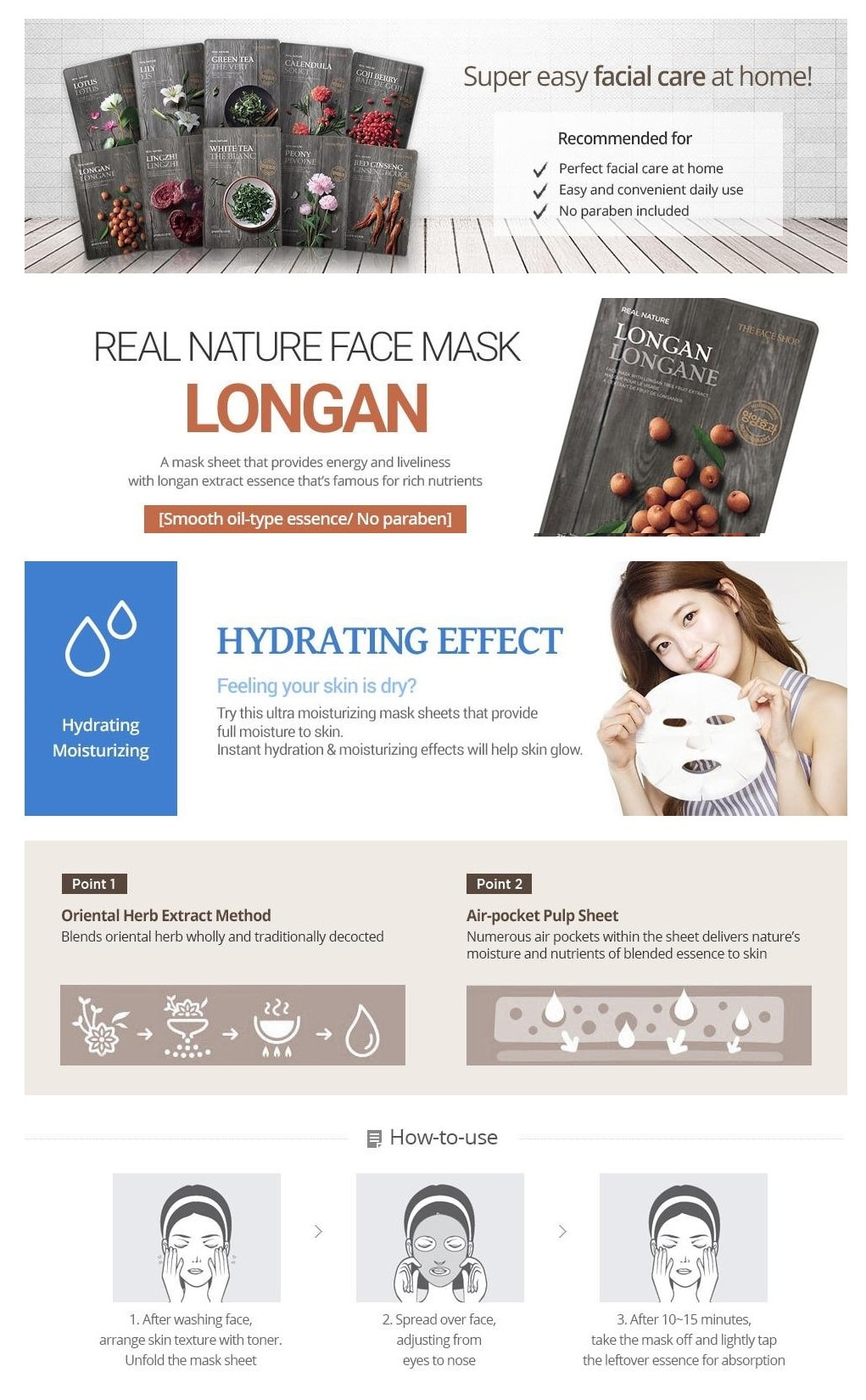 TTHE FACESHOP Real Nature Mask Sheet 20g