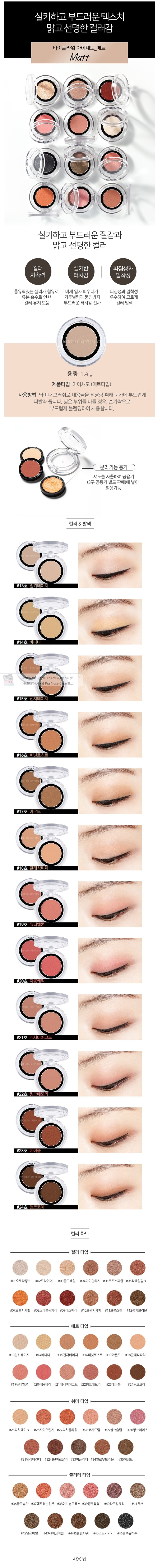 NATURE REPUBLIC By Flower Eyeshadow Matt - No.15 Ginger Beige