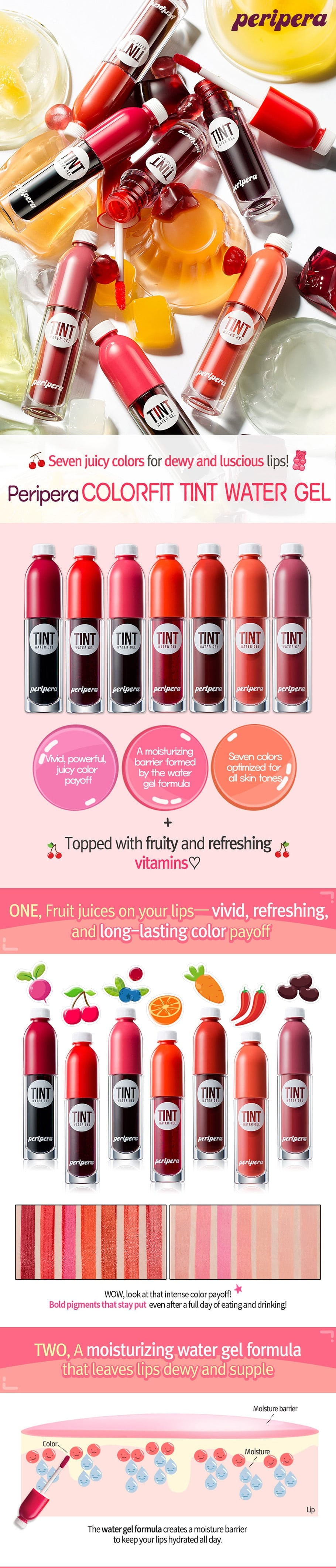 PERIPERA Colorfit Tint Water Gel [006 Carrotpress]