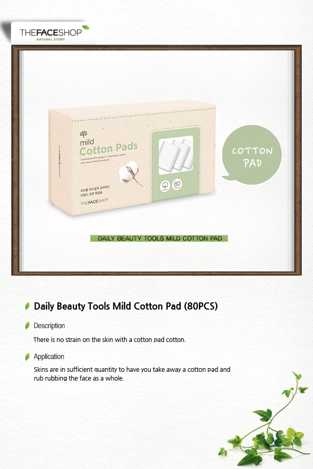 The Face Shop Daily Beauty Tools Mild Cotton Pad (80pcs)