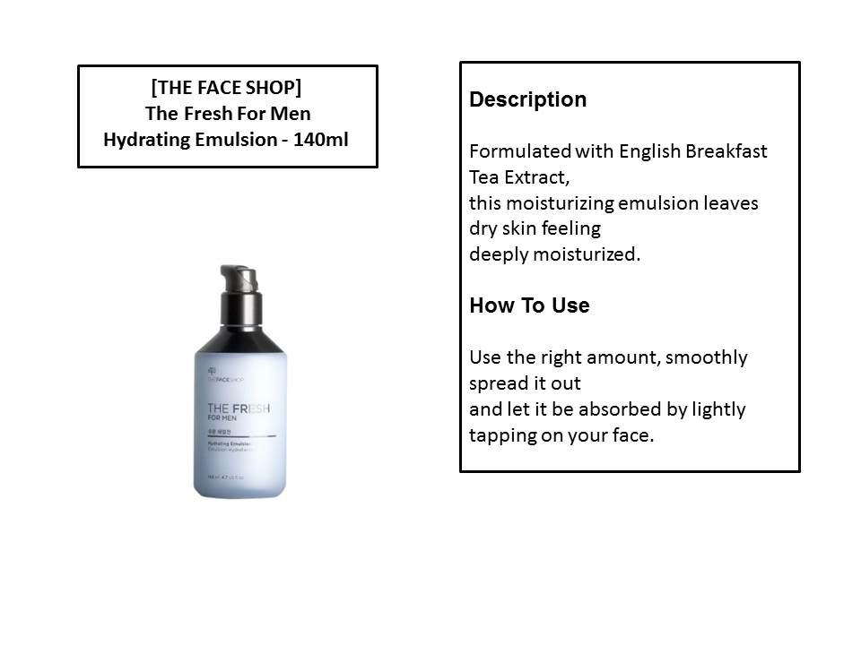 THE FACE SHOP The Fresh For Men Hydrating Emulsion 140ml